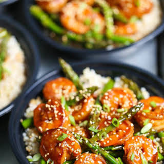 Shrimp and Asparagus Stir Fry Meal Prep.