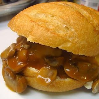 Hardee's Mushroom and Swiss Burger.