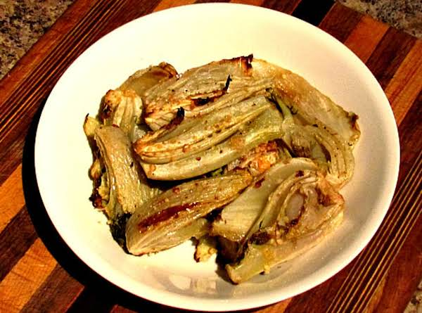 Roasted Fennel With Romano Vinaigrette