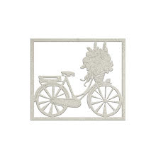 FabScraps Lavender Breeze Die-Cut Chipboard - Bicycle
