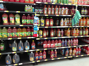 Photo: On my way to find Kool-Aid I checked out the rest of the juice aisle.