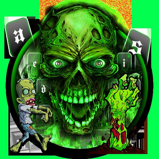 Zombie Green Skull