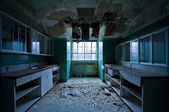 Photo: Civil twilight in a Unit 2 nurses' station, Mont Alto Sanatorium.
