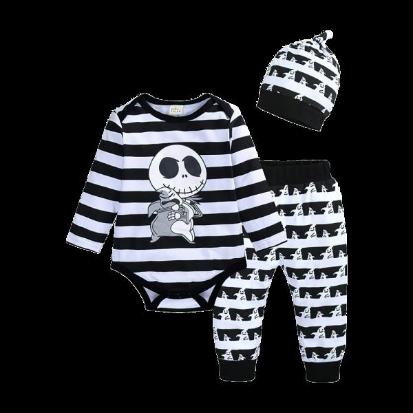 Baby Jack Skellington Hugging Stuffed Toy Bodysuit & Pants & Hat