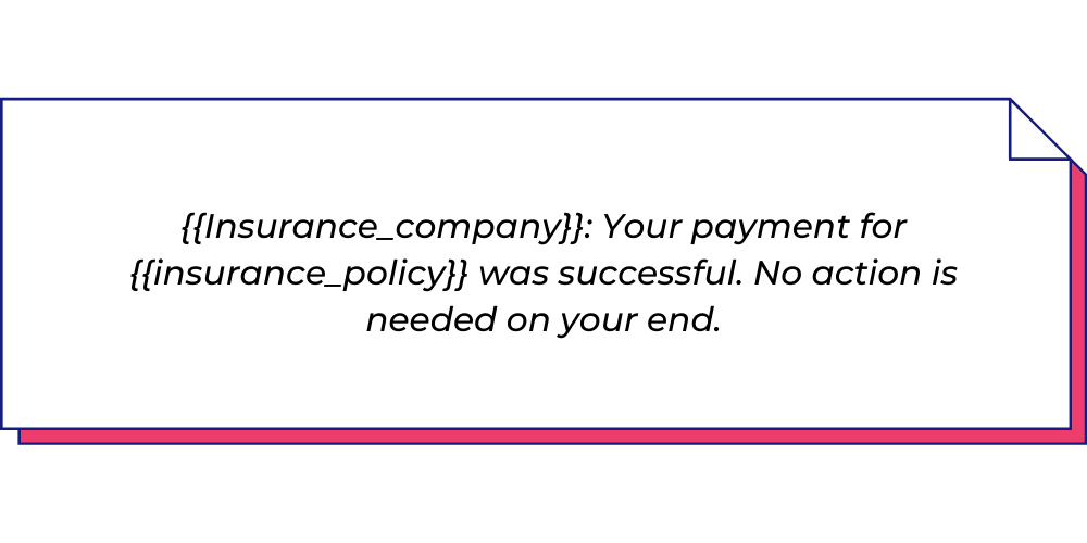 Use this payment WhatsApp template for insurance agents.