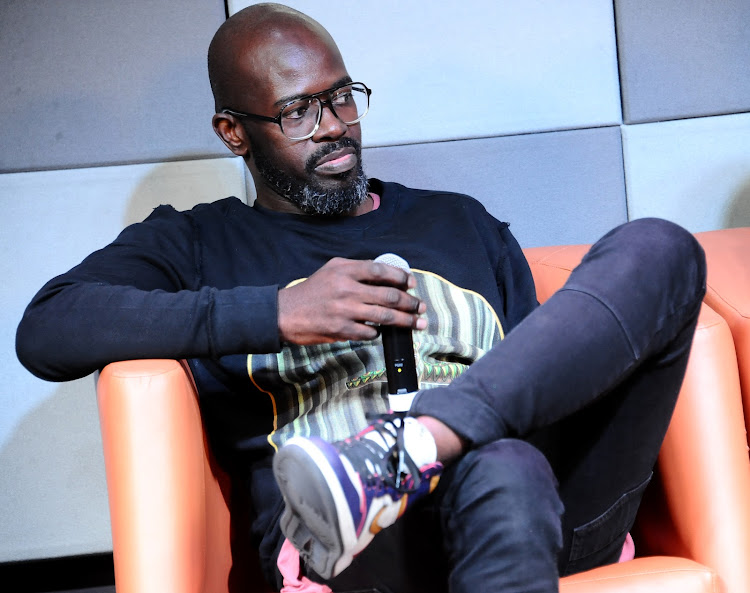 JOHANNESBURG, SOUTH AFRICA - OCTOBER 02: Dj Black Coffee during the Music Is King media launch held at the Universal Studios in Johannesburg, South Africa.