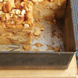 Sweet Potato Bread Pudding With Crunchy Cashews.