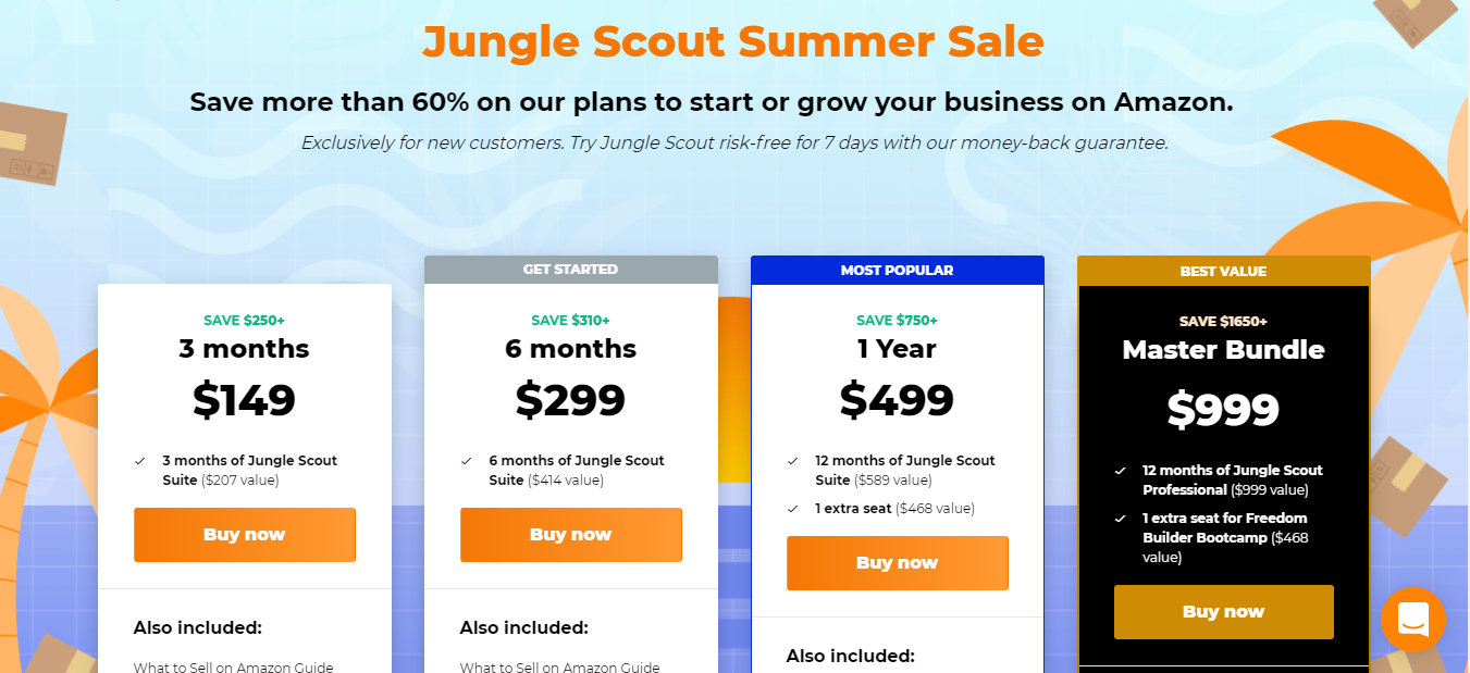 jungle scout offer pricing plan
