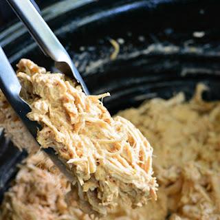 Crock Pot Creamy Pulled Chicken Tacos.