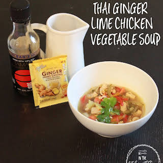 Thai Ginger Lime Chicken Vegetable Soup.