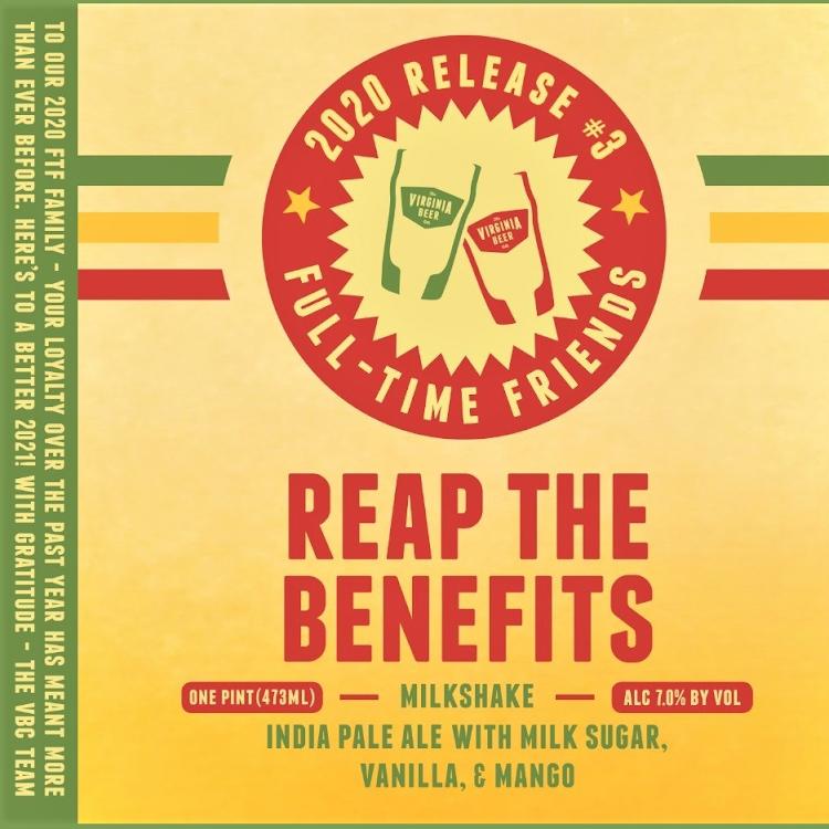 Logo of Virginia Beer Co. Reap The Benefits