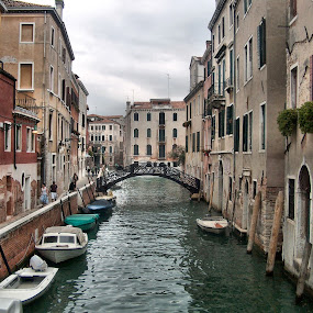 Venice 4 by Anita Berghoef - City,  Street & Park  Vistas ( waterscape, venice, cityscape, landscape, canal, italy,  )