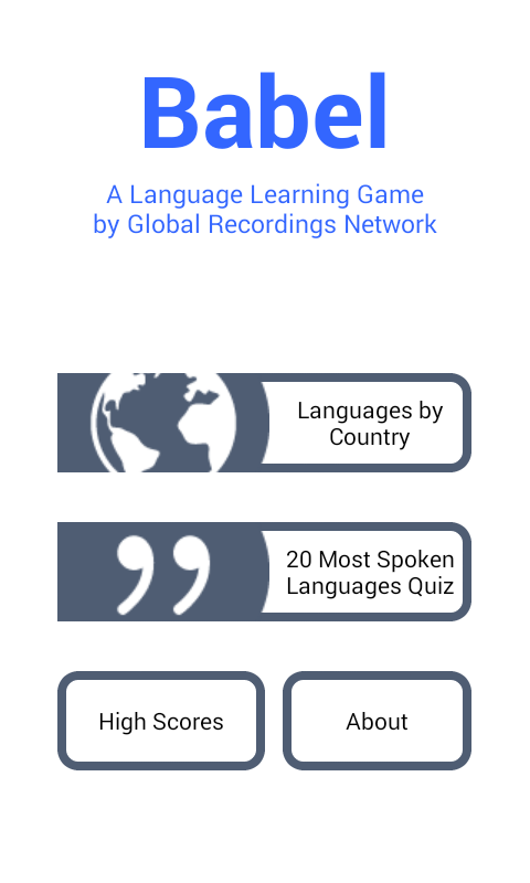 Babel - Language Guessing Game- screenshot