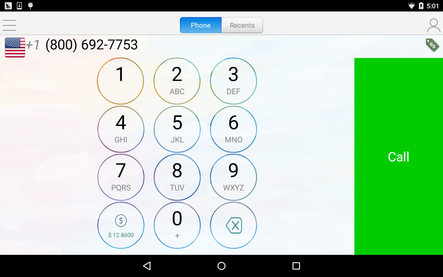 WePhone - free phone calls & cheap calls- screenshot