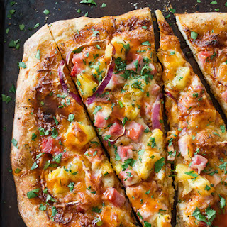 BBQ Hawaiian Pizza.