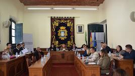Imagen del Pleno celebrado en el Ayuntamiento de Níjar.