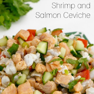 Low Carb Shrimp and Salmon Ceviche.