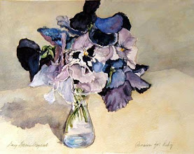Photo: Pansies for Ruby . watercolor . 8x10