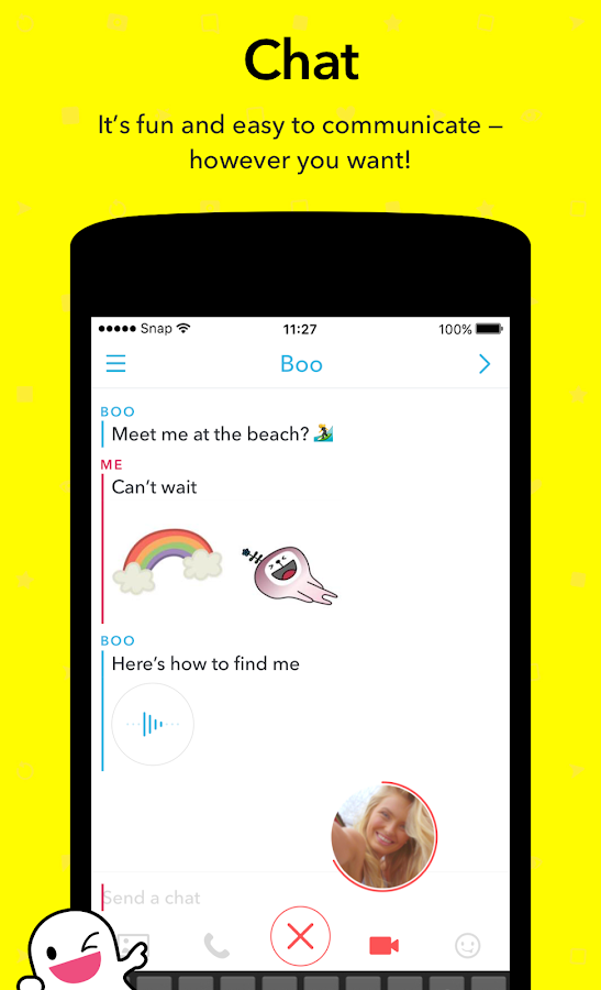Screenshots of Snapchat for Android