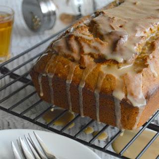 Brown Butter Pumpkin Cake with Vanilla Bourbon Glaze