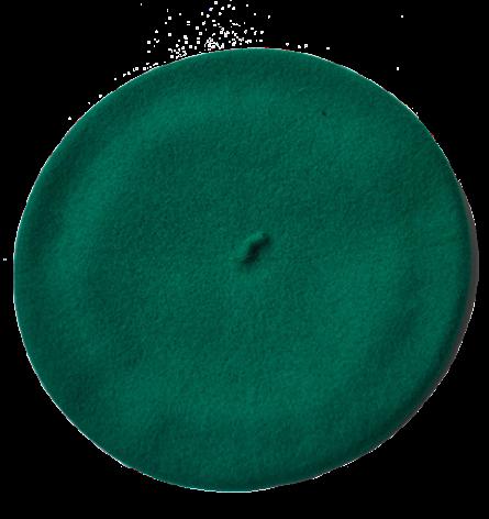Klassisk basker, grön unisex