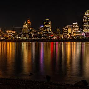 Riverfront by Mike Svach - City,  Street & Park  Skylines
