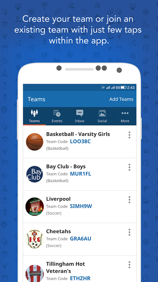 InstaTeam Sports Team Manager- screenshot