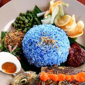 Nasi Kerabu by Ting Lee - Food & Drink Plated Food