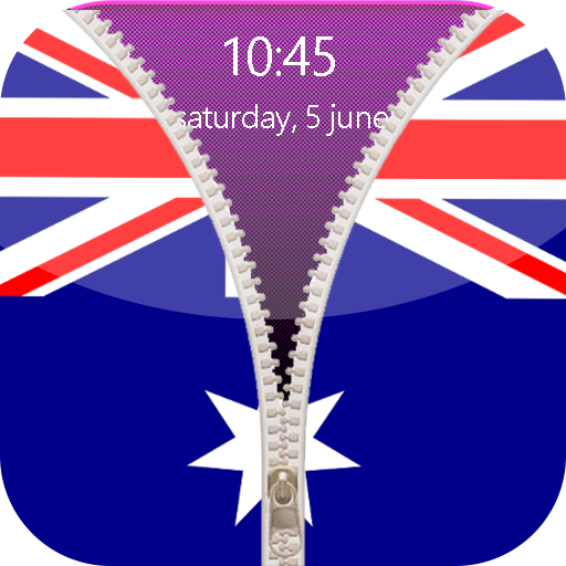 Australia Flag Zipper Lock Screen Android APK Download Free By Aimad Laghrib