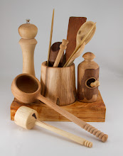 Photo: Ed Karch treenware made from mixed woods