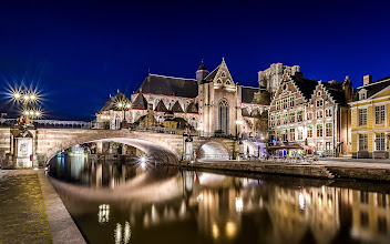 Photo: #Historic part of #Gent in #Belgium at #Night  Fantastic place for #photographers  :-)  #nightphotography #River #bridge