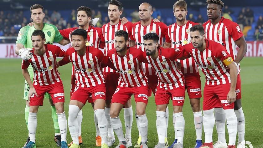 El once del Almería contra el Villarreal.