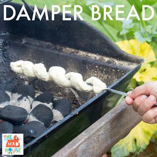 Cook on stick Damper Bread.