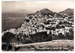 Photo: Capri - Panorama con veduta del Vesuvio Alterocca - Terni