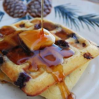 Blueberry Sour Cream Waffles.