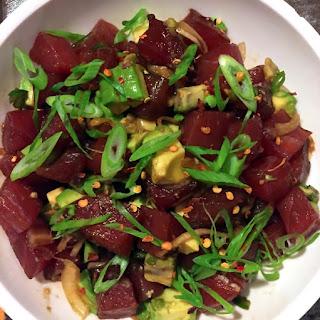 Ahi Tuna & Avocado Poke Bowl