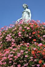 Photo: Fontaine avec statue le Printemps, Ste-Marie-aux-mines