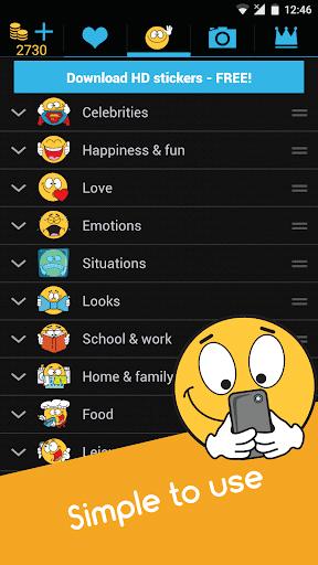 Emojidom emoticons for texting, emoji for Facebook 5.5 screenshots 17