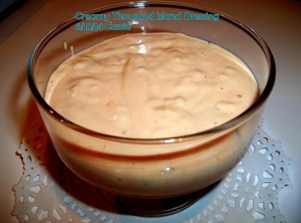 Creamy Thousand Island Dressing Recipe