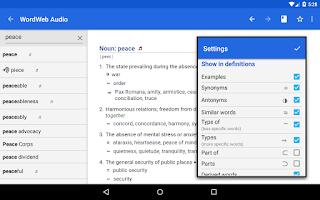 Screenshot of WordWeb Audio Dictionary