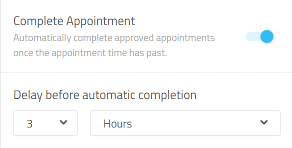 complete appointment
