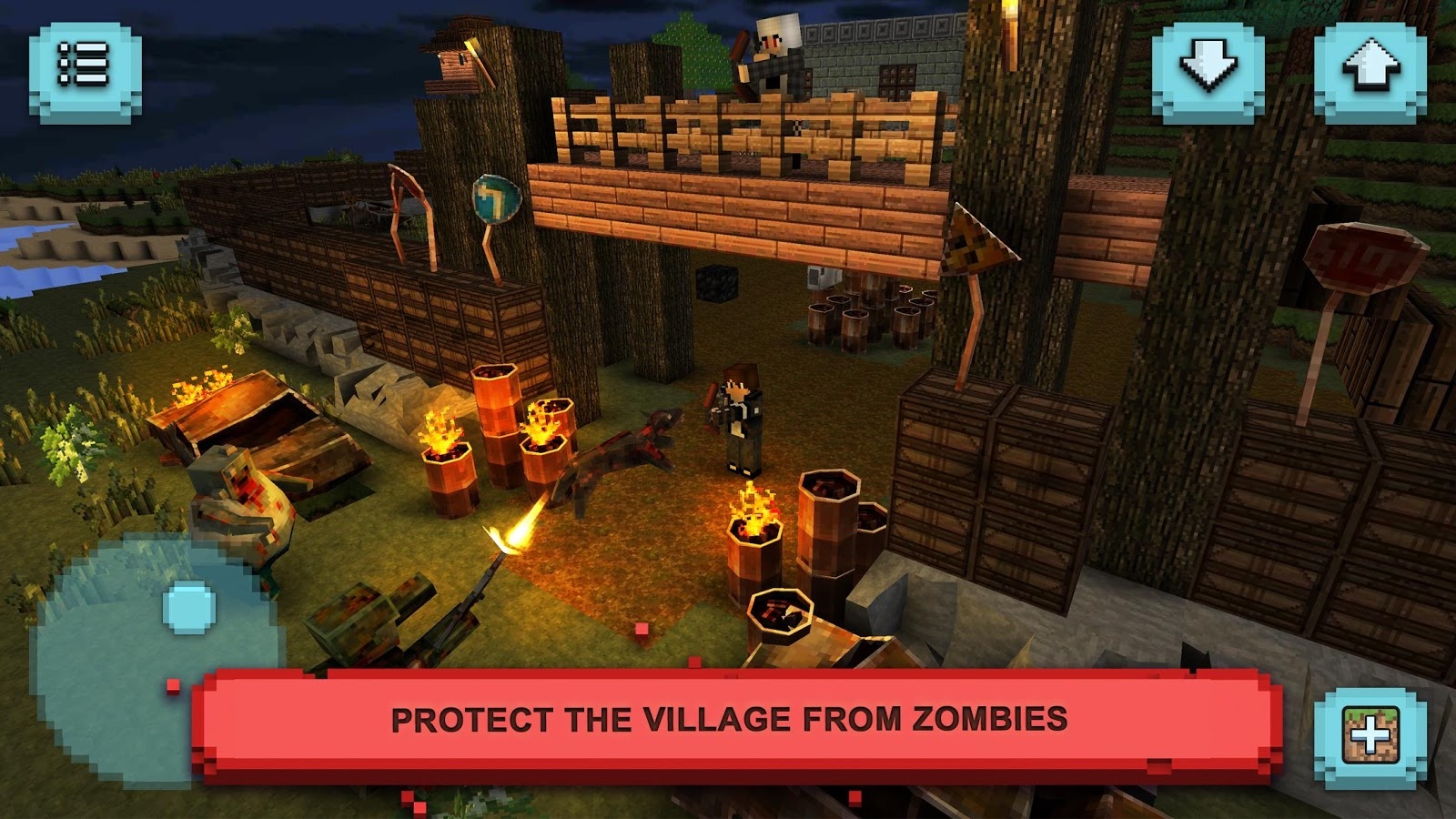 Zombie survival craft defense android apps on google play for Zombie build