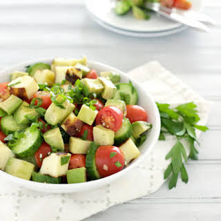 Cucumber, Avocado and Tomato Salad.