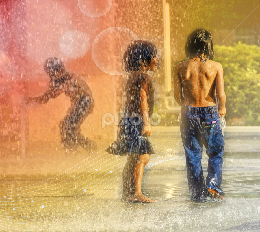 Summer fun by Loredana  Smith - Babies & Children Children Candids ( youngster, children, heat, kid, city, child, playing, daytime, girl, wet, barefoot, cool, water, park, male, funny, leisure, bathing suit, teens, fun, youth, young, sprinkler, splashing, female, fountain, outdoor, hot, laughter, boy, daylight )