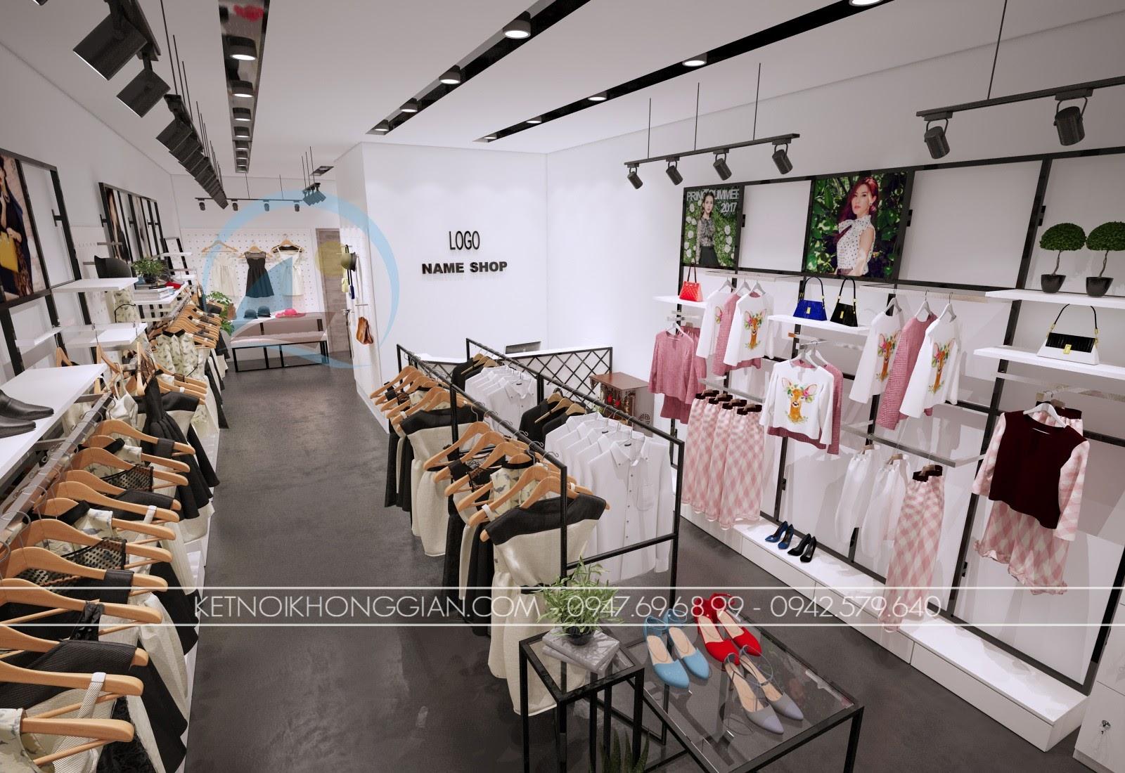 thiết kế shop thời trang giá rẻ nhất vịnh bắc bộ