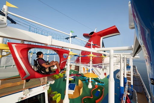carnival-vista-Skyride.jpg - Get some exercise and an aerial view of the goings-on below when you pedal around Carnival Vista on the Skyride.