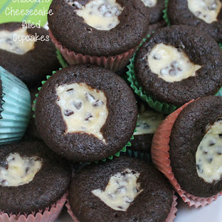 Chocolate Cream Cheese Cupcakes.