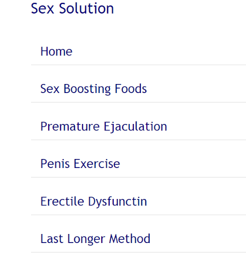 Sex problems Solutions