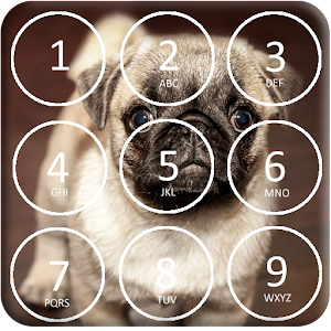 Puppy Dog Pin Lock Screen