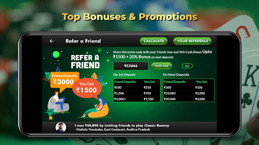 ClassicRummy - Play Free Online Indian Rummy Game APK MOD (Astuce) screenshots 4